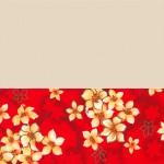 白身油桐紅花底
