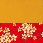 黃身油桐紅花底