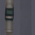 藍灰+棕色提帶+淺紫粉點 織帶卡扣
